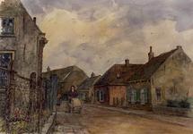 XXXI-608-05-19-05-00-01 Woningen in de Vredehofstraat in de richting van het dorp.
