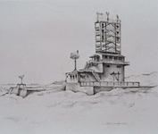 1969-2358 Radarpost (Semafoor) op duin. Hoek van Holland .