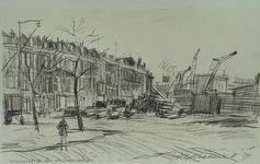 IX-1527-04 Gezicht op de Katendrechtselaan vanaf de Linker Veerdam, uit het noordoosten.