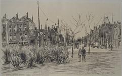 IX-302-03 Gezicht op de Boergoensestraat , hoek Wolphaertsbocht, uit het noorden van het Karel de Stouteplein.