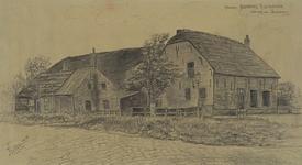 XXV-194-22 Gezicht op de boerderij aan de Dorpsweg nummer 374, hoek Slinge, uit het noordwesten.