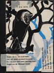 944-02_89_58 De uil : gedicht. Het tweede couplet staat rechts verticaal op het affiche afgedrukt.