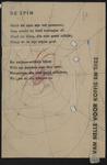 944-02_89_61 De slang : gedicht. De tekst tweede couplet van de scan 000831 jpg. is over het linkergedeelte van de ...