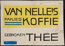 944-02_89_70 Aan de voorkant van de tekening staat de tekst 'Van Nelle gebroken voor koffie en thee' en aan de ...