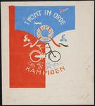 944-02_89_71 Op het affiche 't Komt in orde kampioen' staan onleesbare aantekeningen genoteerd.