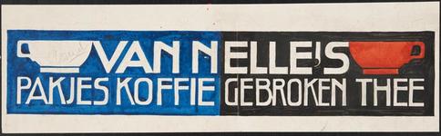944-02_90_34 Reclame voor Van Nelle's pakjes koffie en gebroken thee.