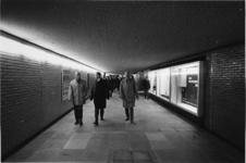 1967-450 Tijdens de opening van de voetgangerstunnel onder het Weena, v.l.n.r. wethouder J. Worst, wethouder H.C.G.L. ...