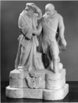 1967-618 Beeldengroep Erasmus en Piet Heyn, dienend als motto voor de tentoonstelling Erasmus ontmoet Piet Heyn, ...