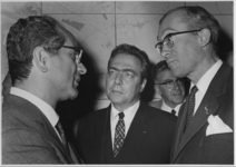 1968-1926 Tijdens de vergadering van de ministers van Financiën uit de landen van de Europese Gemeenschap in het ...