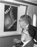 1968-975 De opening van de tentoonstelling: 350 jaar Joodse Gemeente in Rotterdam, in het Gemeentearchief. In de ...