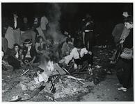 1970-1420 Holland Popfestival van 26 t/m 28 juni 1970 in het Kralingse bos in Rotterdam. Avond op het festivalterrein. ...