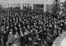 1972-717 NSB-bijeenkomst in de Rivièrahal van de Diergaarde Blijdorp.