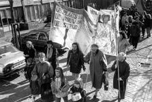 1989-315 Vertrek van de demonstratie uit de Gouvernestraat ter gelegenheid van Internationale Vrouwendag