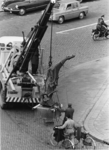 XXVI-73-03 In verband met de bouw van het metrostation aan het Zuidplein wordt het verzetsmonument Il Grande Miracolo ...