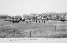 XXXIII-225-01-1 Gezicht op het schuttersveld Crooswijk, tijdens de 18e uitvoering van het Nederlandsch Gymnastiek ...