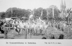 XXXIII-225-01-2 Gezicht op het schuttersveld Crooswijk, tijdens de 18e uitvoering van het Nederlandsch Gymnastiek ...