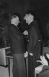 XXXIII-756-01 Huldiging van pater Dr. B. Kruitwagen.Pater Dr. B. Kruitwagen wordt door minister Rutten geridderd i.v.m. ...
