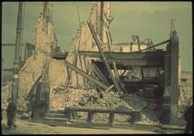 1978-2714 Ruïne van een ingestort pand na het bombardement van 14 mei 1940.