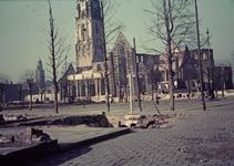 FD-13121 Opname van de Sint_Laurenskerk na het bombardement van mei 1940.