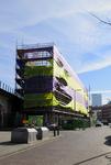 174 Verbouwing van kluswoningen in het Spoorpunt in de Insulindestraat in Rotterdam-Noord.