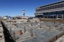 349 Nieuwe vertrekhal voor The Hague Rotterdam Airport in aanbouw.