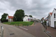 56 De splitsing van de Pastoriedijk met de Bakkersoordseweg in Pernis.