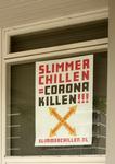 259 Rotterdam tijdens de Coronapandemie. 'Slimmer chillen = Corona killen': dat is de slogan waarmee acht ...