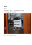 266 Rotterdam tijdens de Coronapandemie. Foto's van mededelingen, gepost op Twitter.Als krijttekeningen op straat en ...