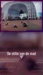 277-1 Rotterdam tijdens de Coronapandemie. Beelden van het lege centrum met onder andere de Markthal en de Laurenskerk.